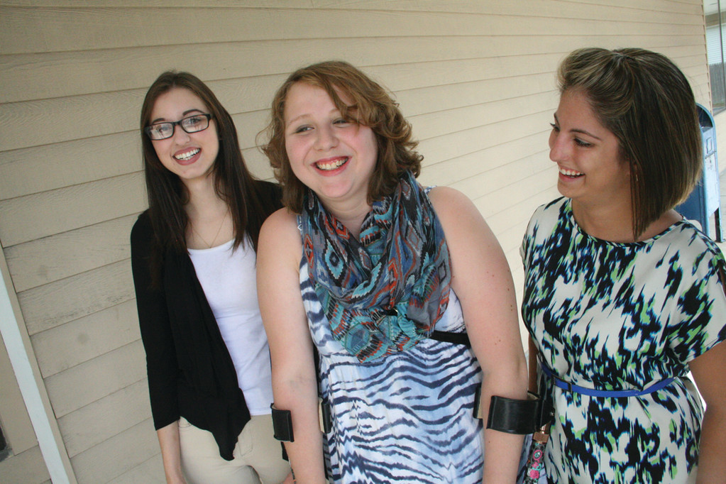 AWARDED $1,000 SCHOLARSHIPS: Sara Iacono, Brittany Martin and Samantha Collins are this year's recipients of Catherine T. Murray Memorial Scholarships awarded by the Ocean State Center for Independent Living.