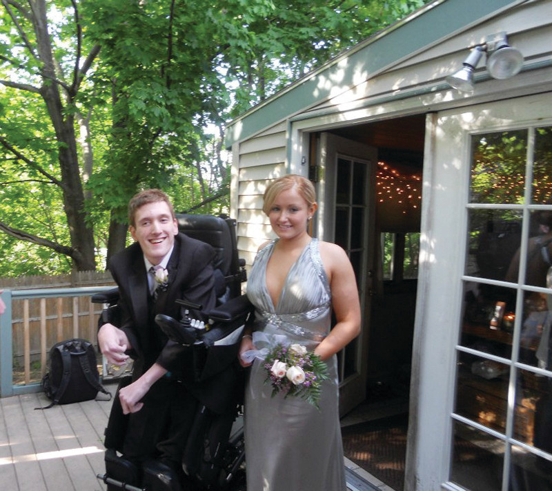 INSPIRING STORY: The story of Stephen Carroll of Johnston and his prom date, Tayler Boardman-Kelly of North Providence, inspired the creation of the Metta Students Foundation.