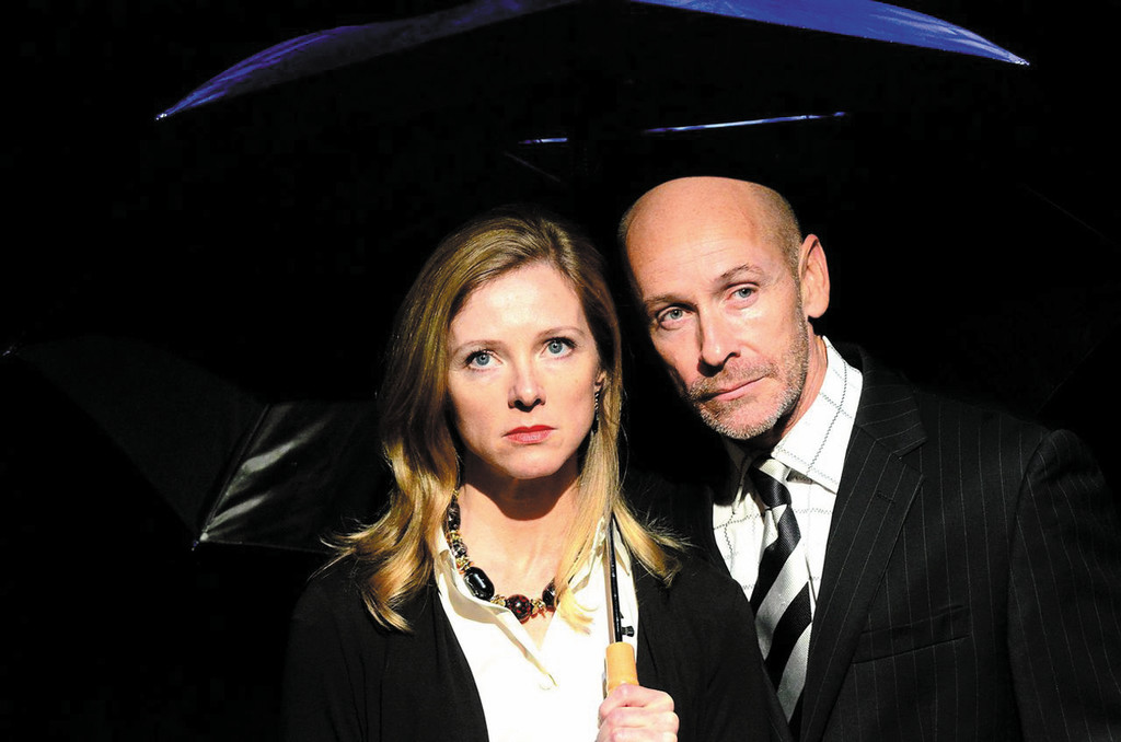 "POWER COUPLE:  Tanya Anderson is Claudia Roe and Ed Shea is Jeff Skilling in ""Enron"" at 2nd Story Theatre, Warren, through Nov. 2."