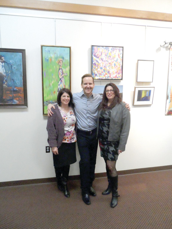 "IN THE NEIGHBORHOOD: The ""In the Neighborhood"" exhibit features pieces by, from left, Claudia Venditto, Angelo ""Tony"" DeSista and Ronda Cilento."