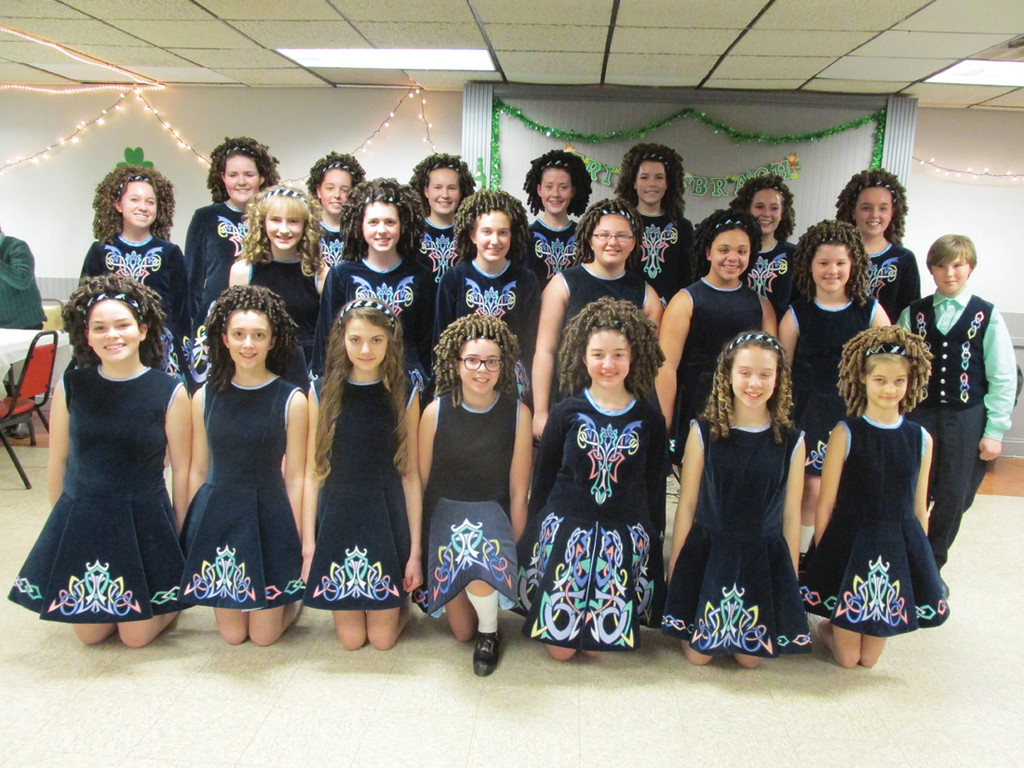 These youngsters are members of the outstanding Damhsa Irish Dance Studio who put on a prolific performance  at the Tri-City Elks Lodge No. 14 on West Shore Road in Warwick.