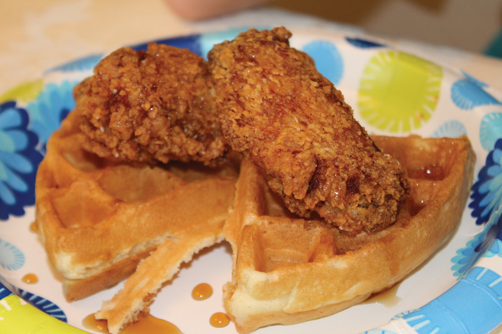 EASTERN SEABOARD EATING: Part of the fun of traveling is getting to try out some of the regional dishes that different states are known for. In North Carolina, we had the opportunity to try chicken and waffles for breakfast. It was fantastic!