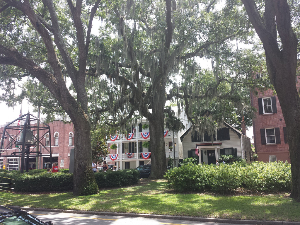 BEAUTIFUL VIEW: It was hard to decide which was more beautiful in Savannah – the gorgeous, historic homes, or the stunning old oaks and Spanish moss.