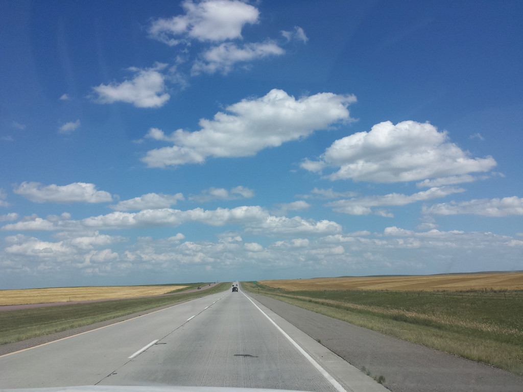MILES AND MILES: Through much of our ride out of South Dakota, this was our view. For as far as the eye could see, it was wide open, flat and incredibly windy. The ride took us double the time we'd expected and we were very happy to see the Minnesota state line greet us.