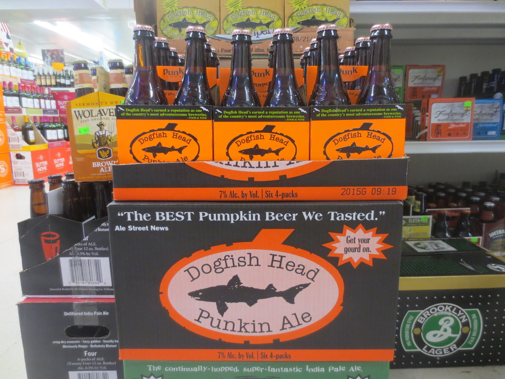 For your next autumn celebration, check out Dogfish Punkin beer at Airport Liquors on Airport Road, and find just what you need to kick-of your NFL season!
