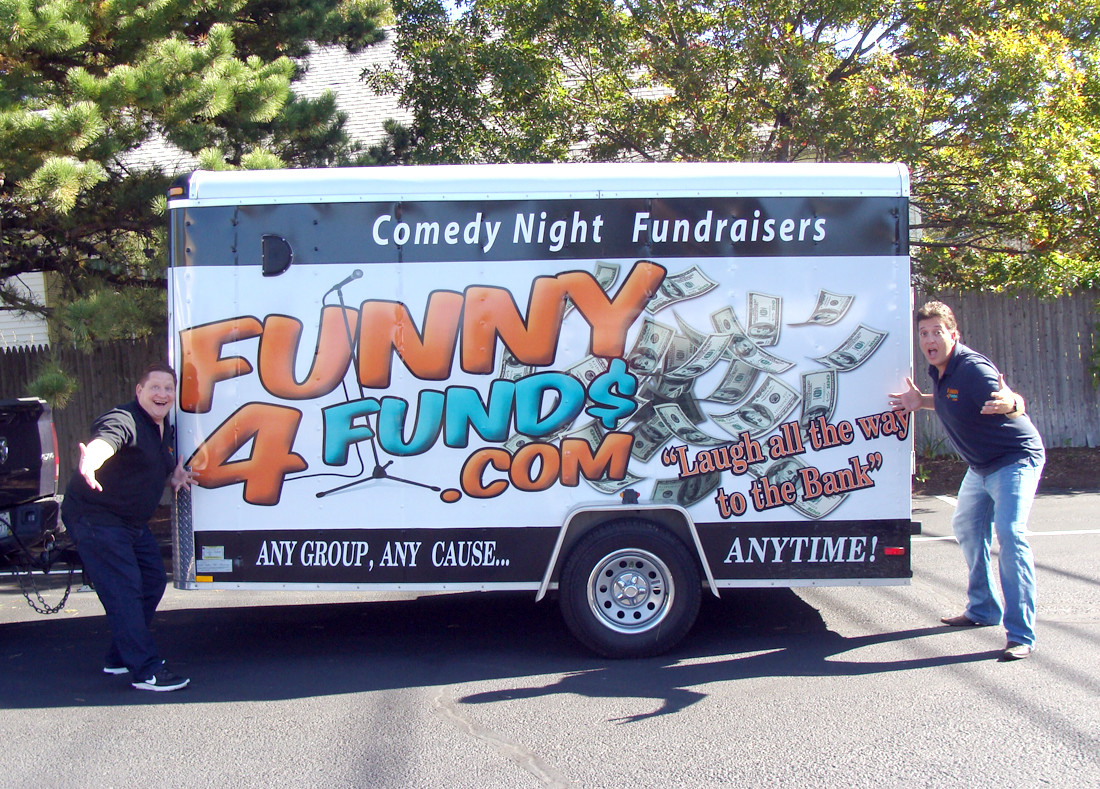 PARTNERS IN COMEDY: Bill Simas and Mike Murray began Funny 4 Funds a year ago and have seen tremendous success so far. They perform a 90-minute comedy show for fundraisers ranging from little leagues wanting new uniforms and transplant patients hoping to offset medical expenses. They believe they get a thrill from helping people and hope to see their business grow.
