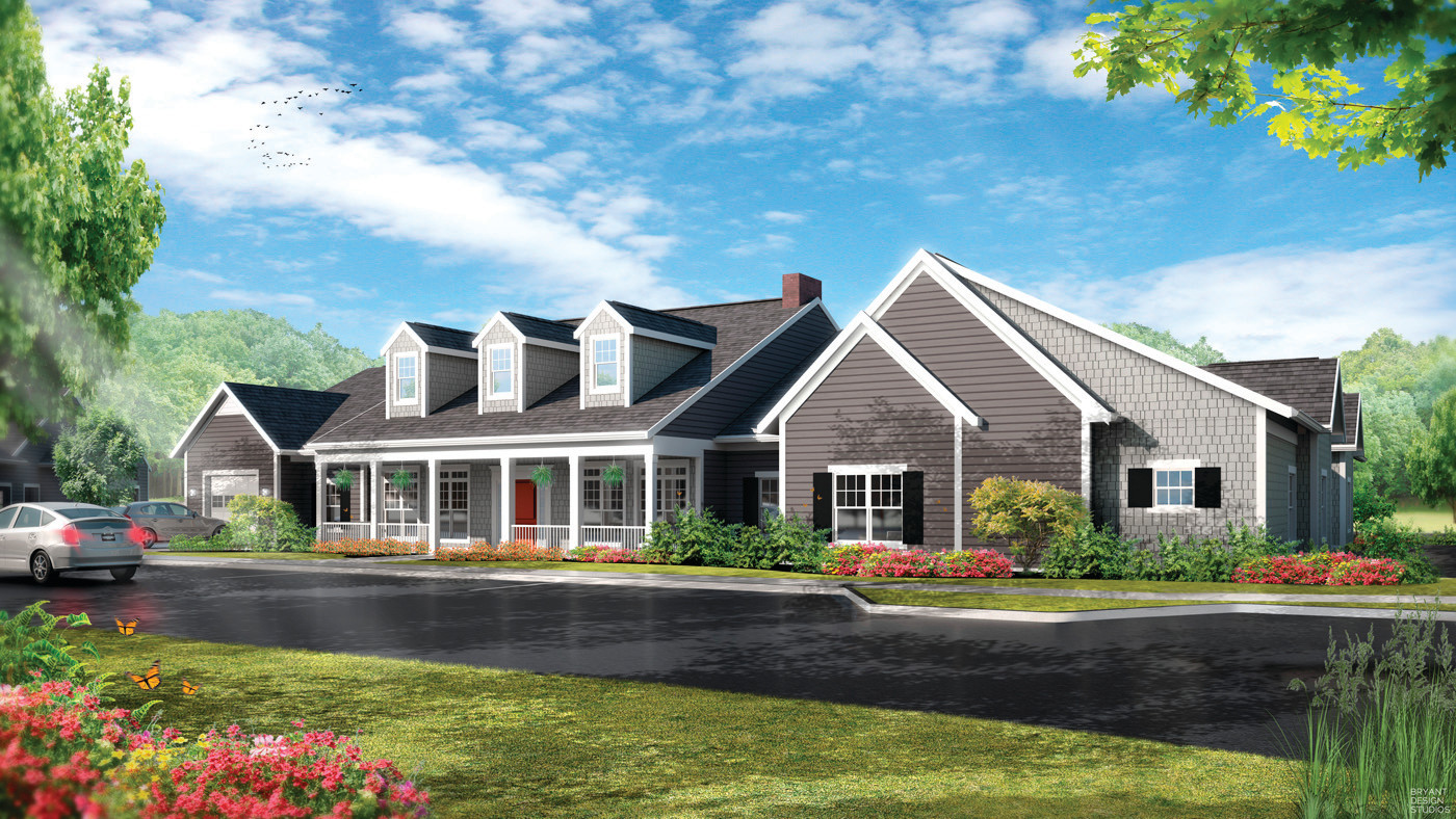 "HOMEY NURSING HOMES: Each of the four Green House Homes will have 12 private bedrooms and bathrooms and a ""hearth"" area to come together for meals and activities. Cooking will be done in each home's kitchen and residents will be encouraged to join in meal preparations should they choose."