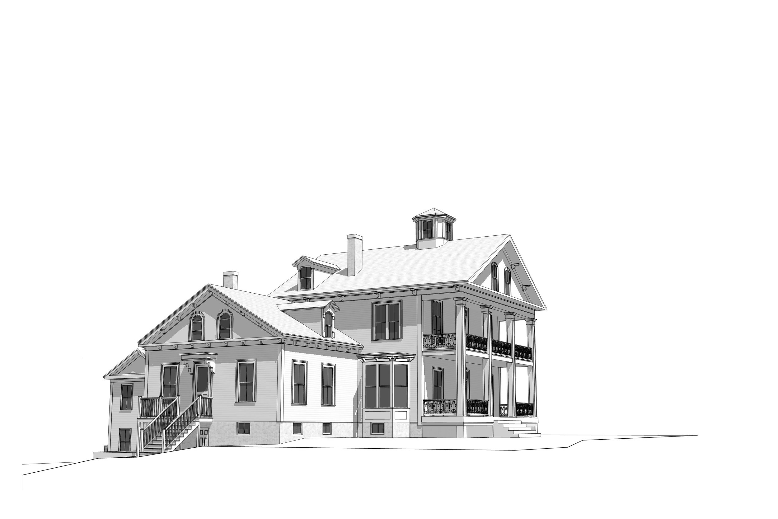 STANDING TALL: An architect's rendering of the house has it standing straight and tall as it once did. The House of Hope is considering having the rendering made into a sign so area residents can see what's planned.