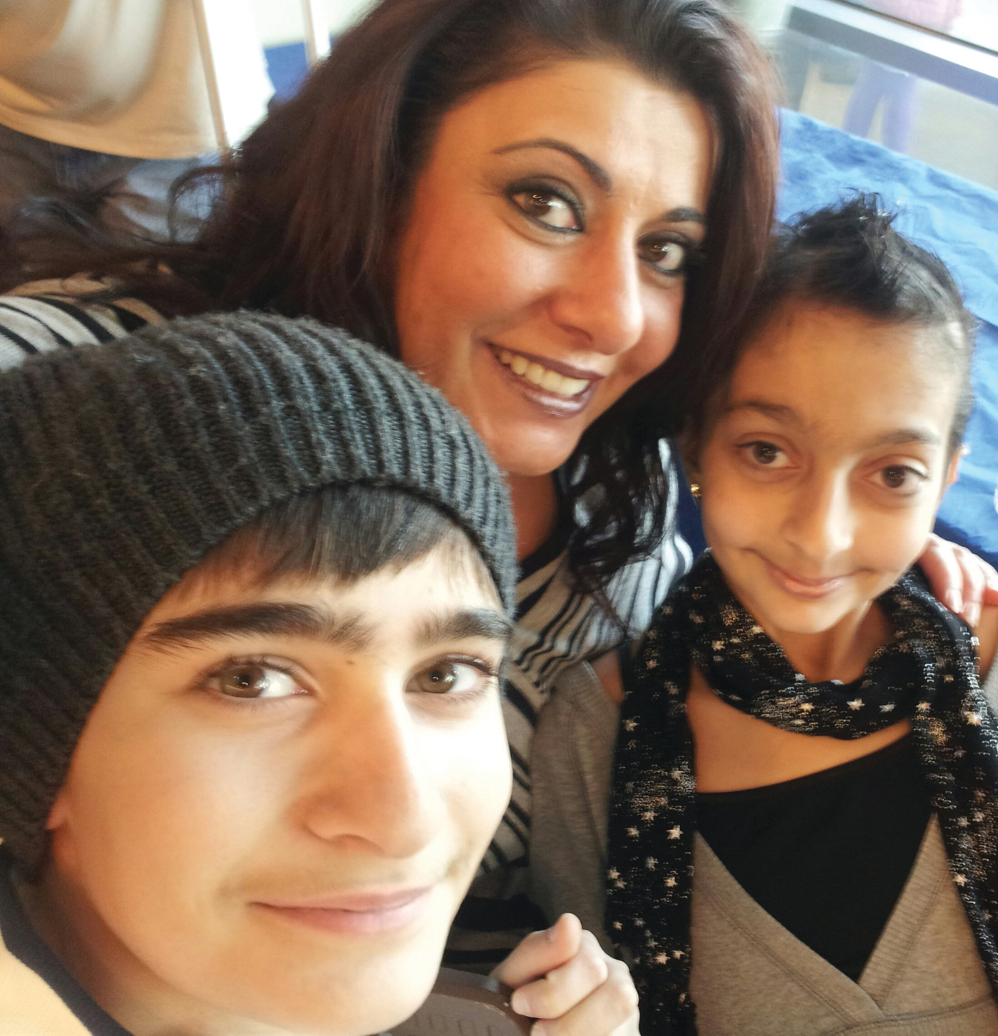 FAMILY LOVE: Ani, her mom Deanna, and her brother Hagop are all smiles as she continues to stay healthy.