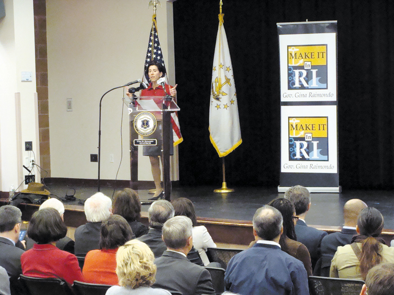 YEAR IN REVIEW: Governor Gina Raimondo invited more than 200 civic, business and education leaders to the URI Providence campus for the Make it in Rhode Island Summit. The gathering broke into working groups that discussed issues they saw facing Rhode Island and the possible positive solutions.