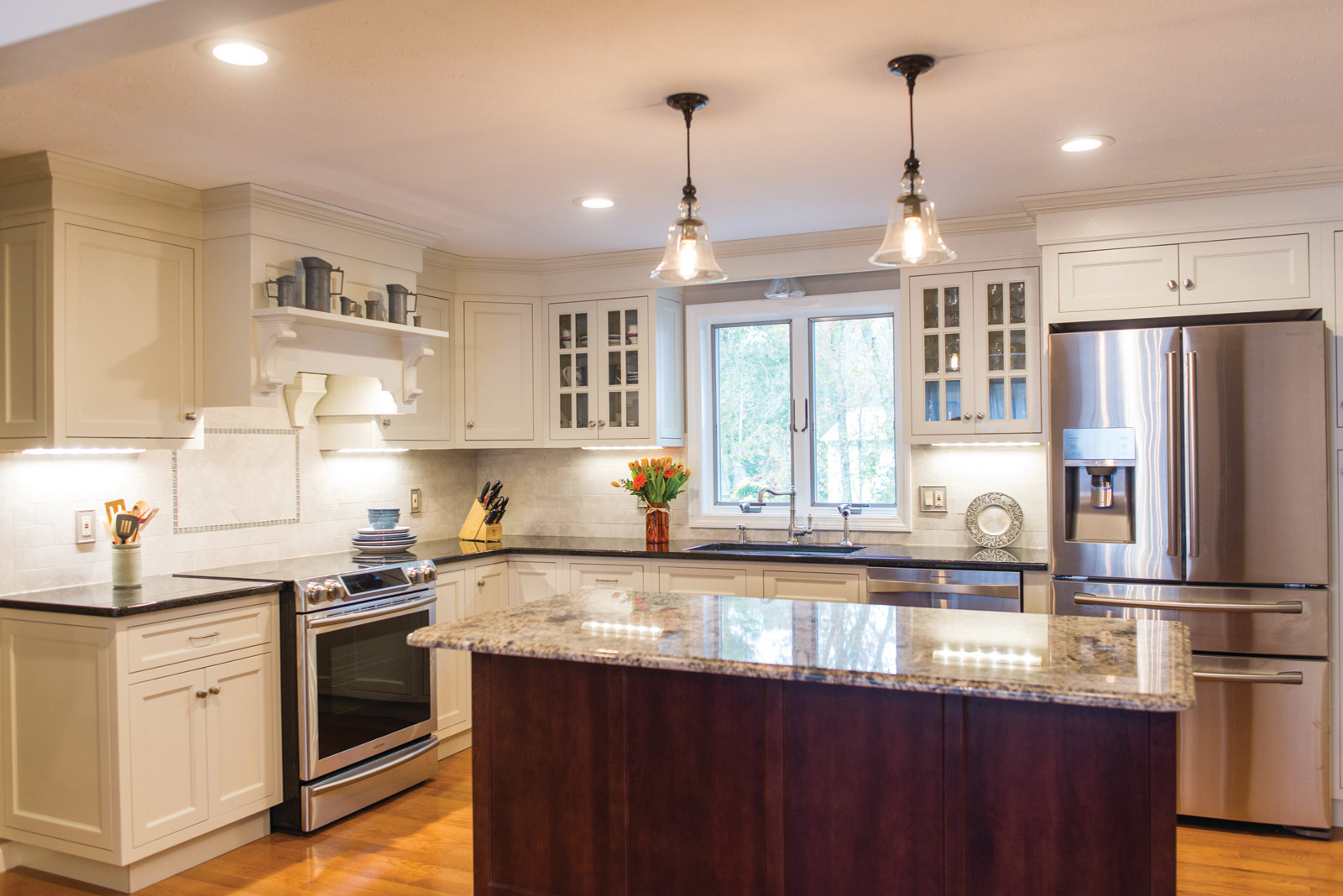To see more remodeled kitchens such as this, constructed by the talented team at McCormick's Home Improvement, Inc, visit their website at www.MHI-RI.com or call for your free consultation today at 463-7674.