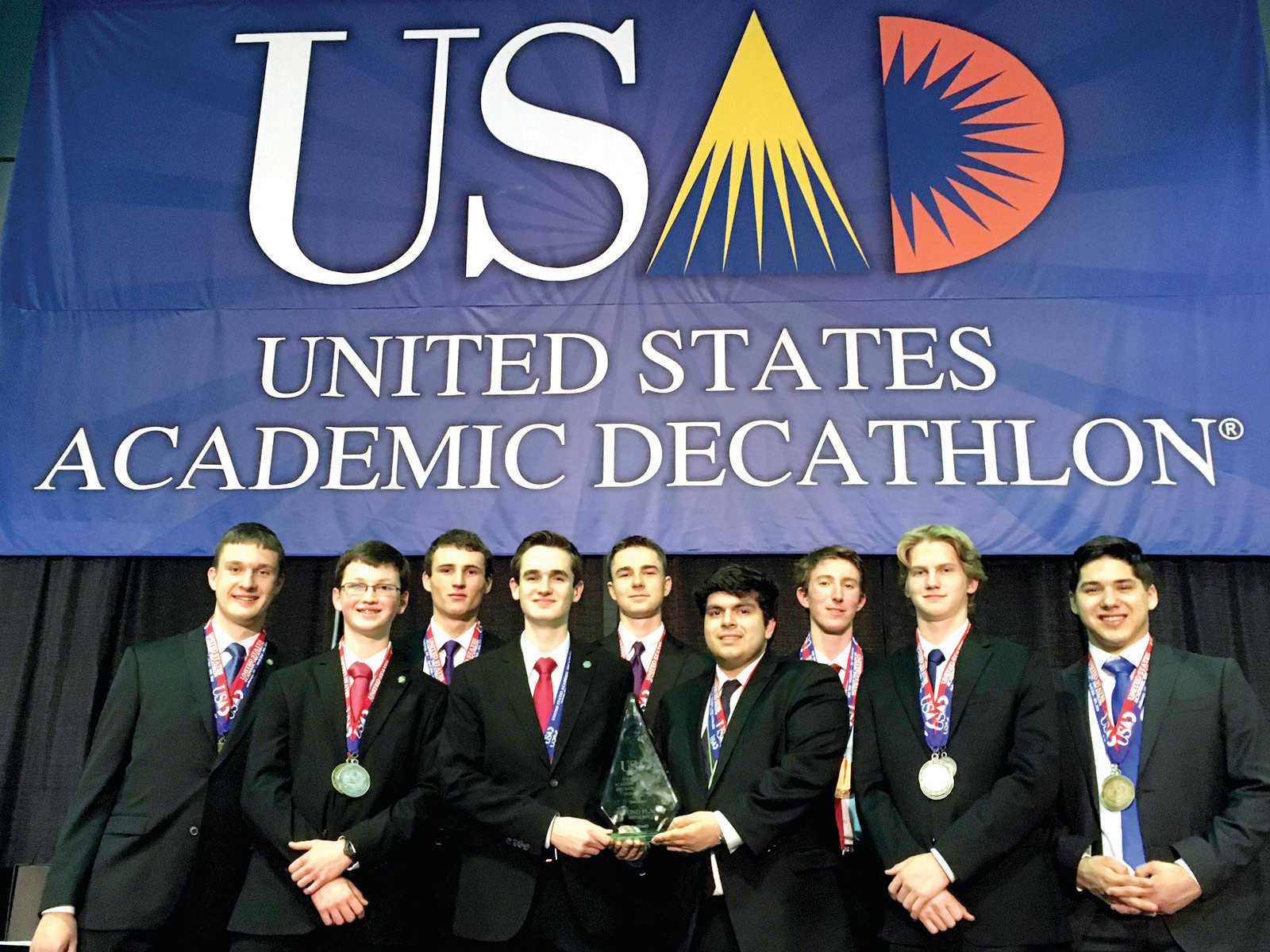STRONG FINISH: The Hawks placed second out of 16 teams in their division at the national Academic Decathlon competition, marking the first time a Rhode Island team has placed at the national level.