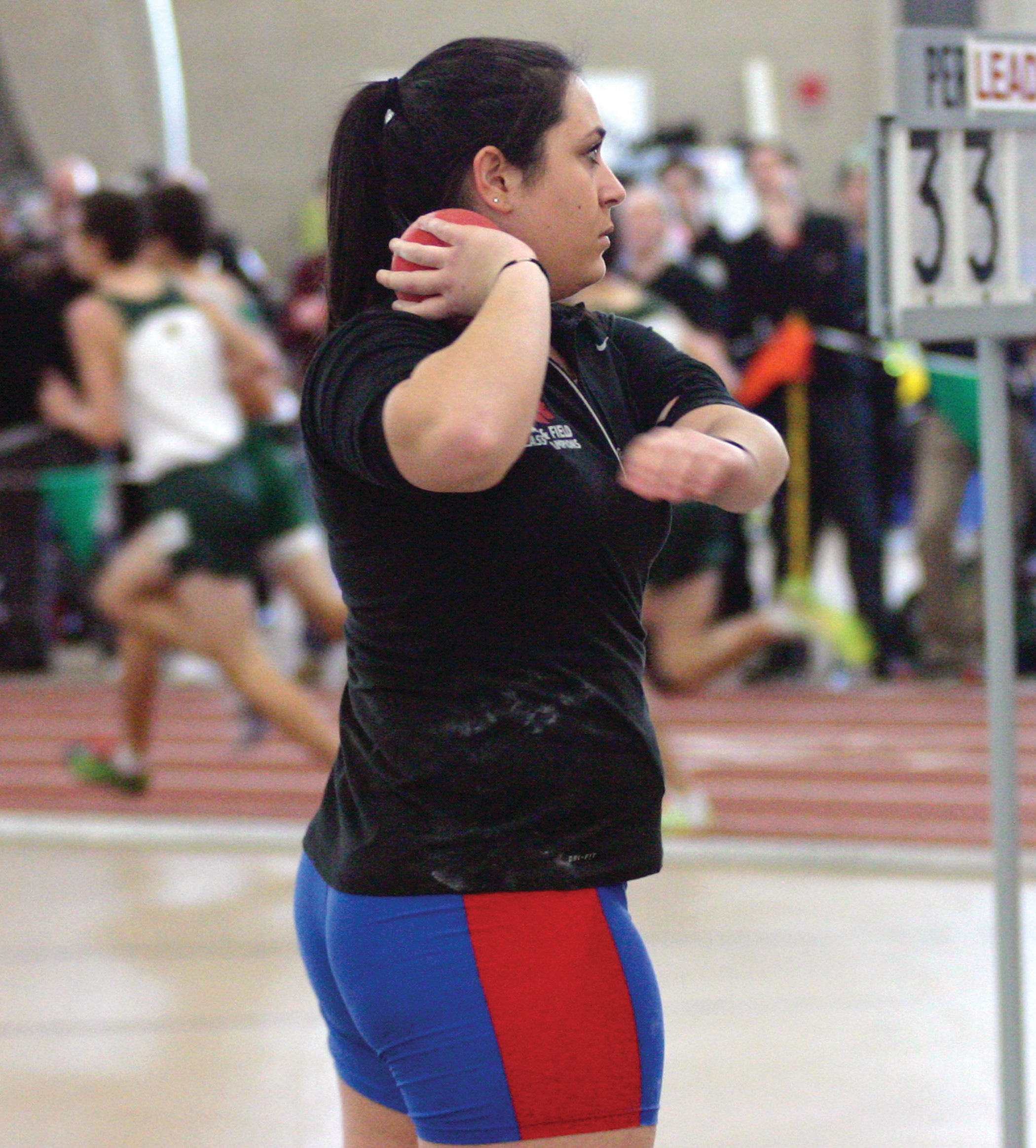 EARNING A MEDAL: Toll Gate's Ani Armenakyan took home third place in the shot put at the Dartmouth Relays.