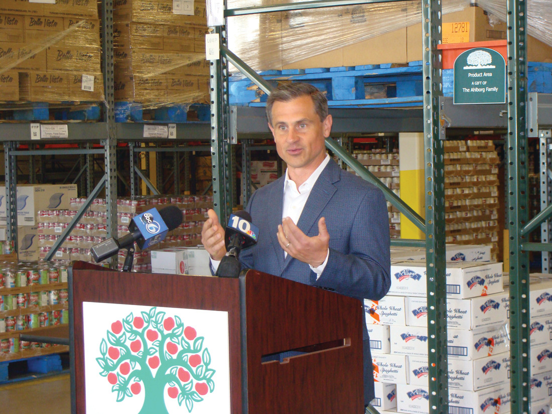 PRIORITY: First Gentleman Andy Moffit, who also serves as chair for the Community Food Bank's 2016 Summer Food Drive, said that combating food insecurity, especially for children, is a responsibility we share as a community and should be prioritized.