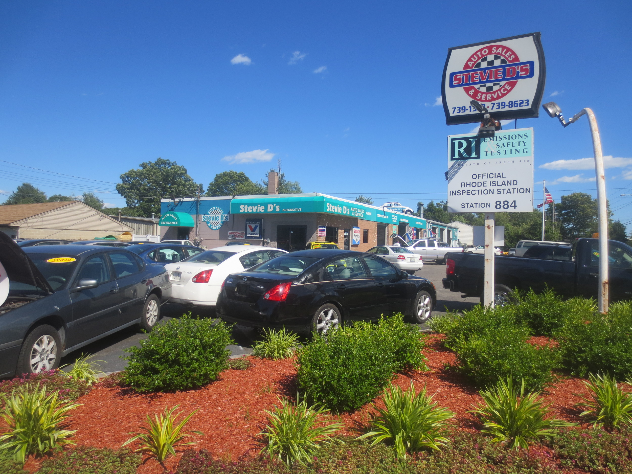 Come tour the lot at Stevie D's off Warwick Avenue for an ever-changing inventory of previously-used vehicles ~ there is something here for every budget, lifestyle and wishlist.