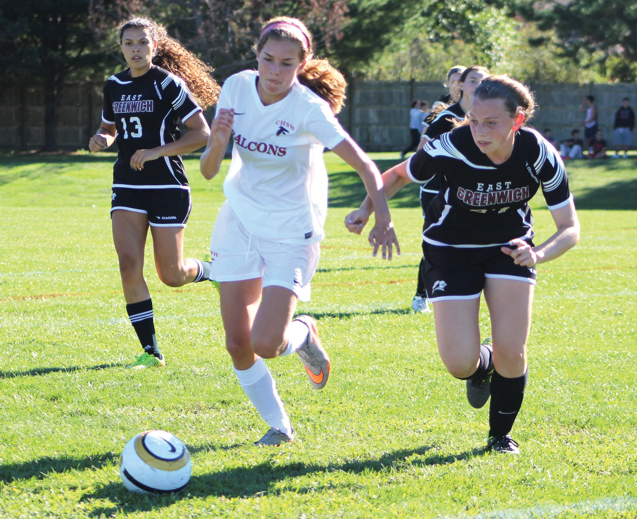 CONTRIBUTING: Heather DiFazio had an assist in West's 3-2 loss against Portsmouth.