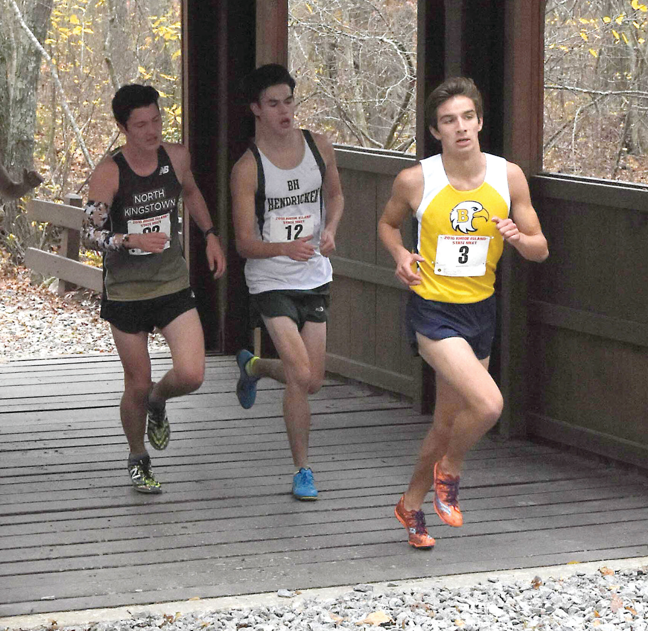 Aidan Tierney was Hendricken's top finisher in Cary, North Carolina.