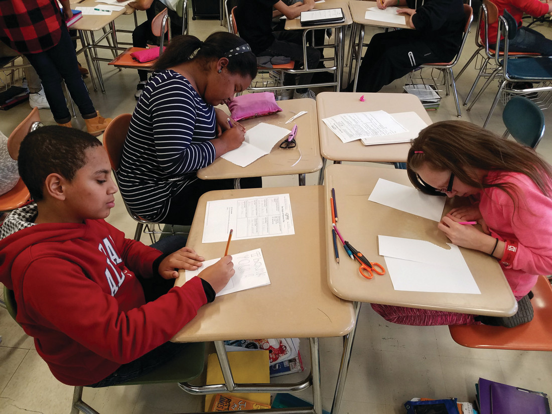 Park View students send  Holiday Cheer      to RI service members