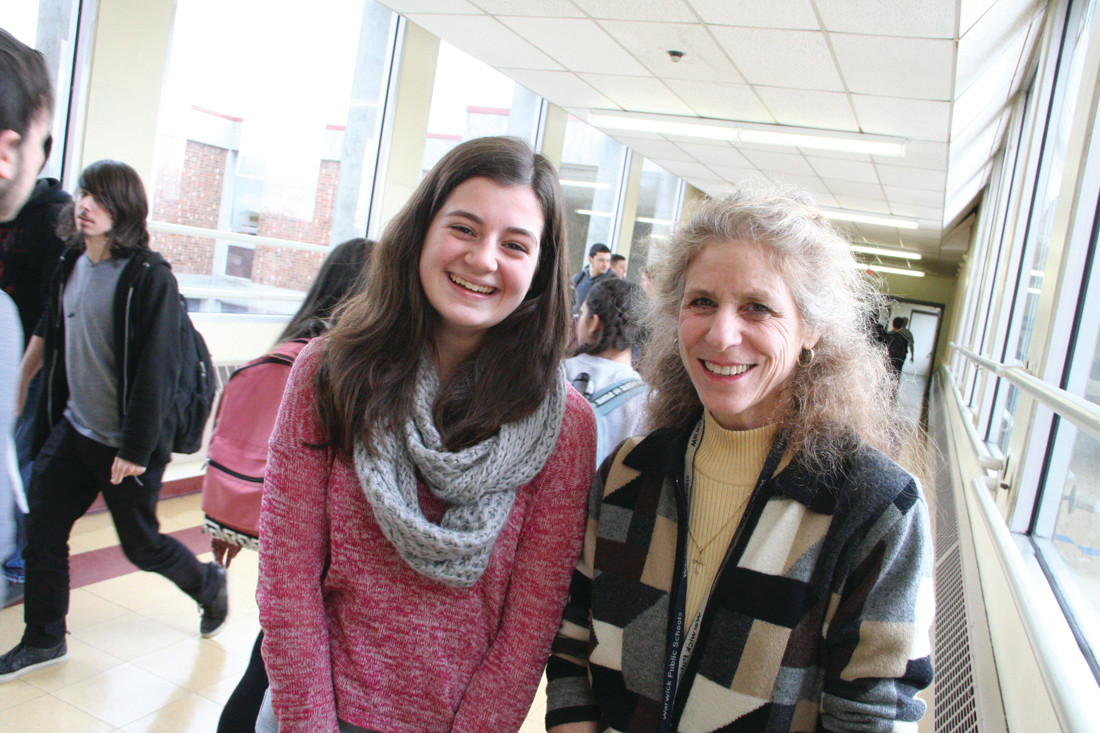 "RESEARCH WILL TAKE THEM TO FRANCE: Rebecca Carcieri and Thalia Wood, a student-teacher team, will be traveling to Normandy this June in search of a ""silent hero."""