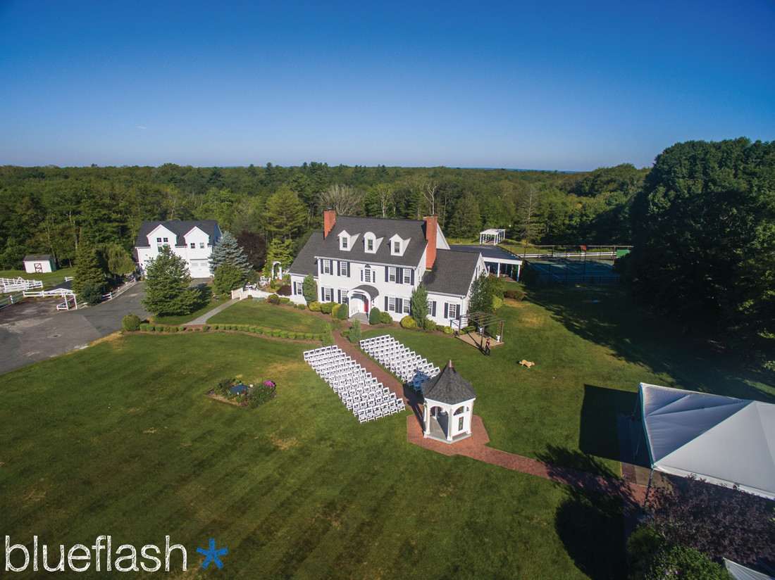 BIRD'S EYE VIEW: Matt Celeste and his team of photographers and videographers will go to just about any height to get a couple the wedding photos and videos they desire, including using new drone technology in their work to give the couples an aerial view of their special day.