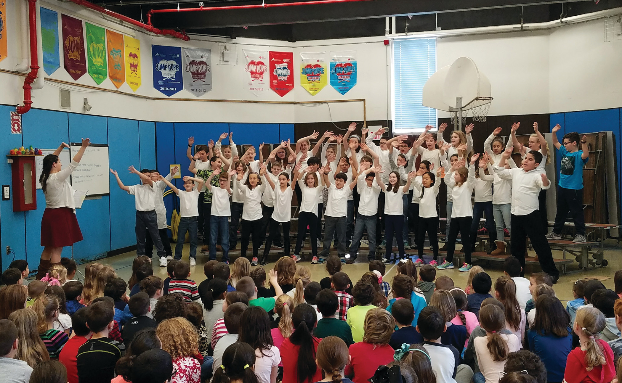 SCIENCE ROCKS: The fifth-graders were the first to perform their musical, hosting an audience of their peers and spotlighting different topics and scientists.