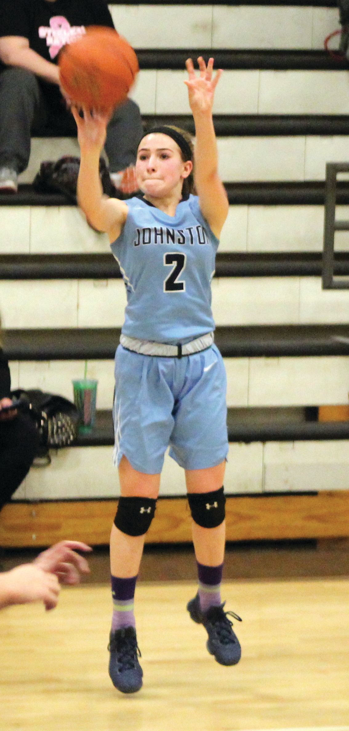 MILESTONE: Jordan Moretti scored her 1,000th point on Friday.