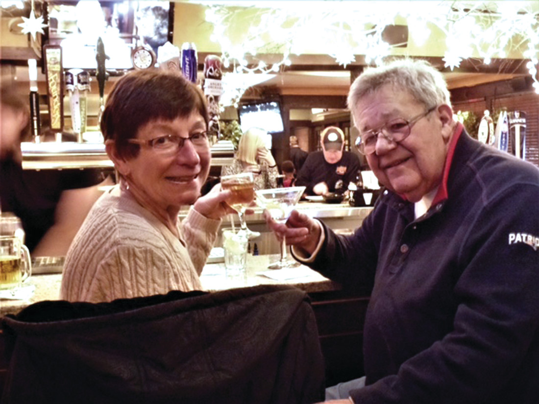 Mark and Nancy Shorrock toasting a great life.