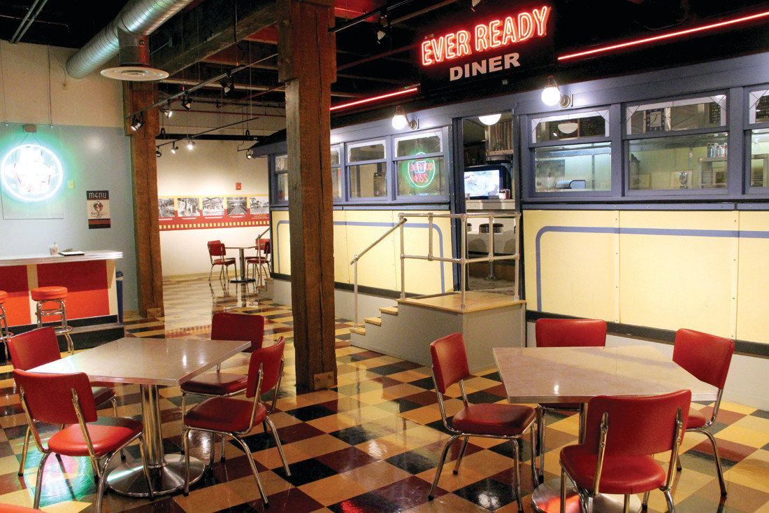 EVER READY: With the museum closed, the Ever Ready Diner is a popular place for students to meet and study. They'll find some silent company in the form of dummies.