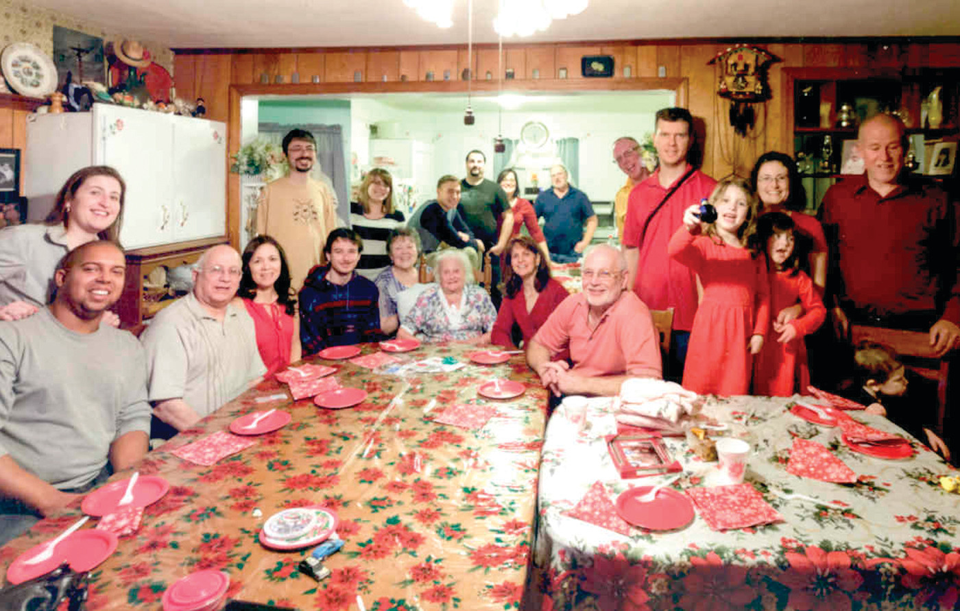 SOME VALENTINE: Agnes surrounded by family at a party in her honor in 2015.