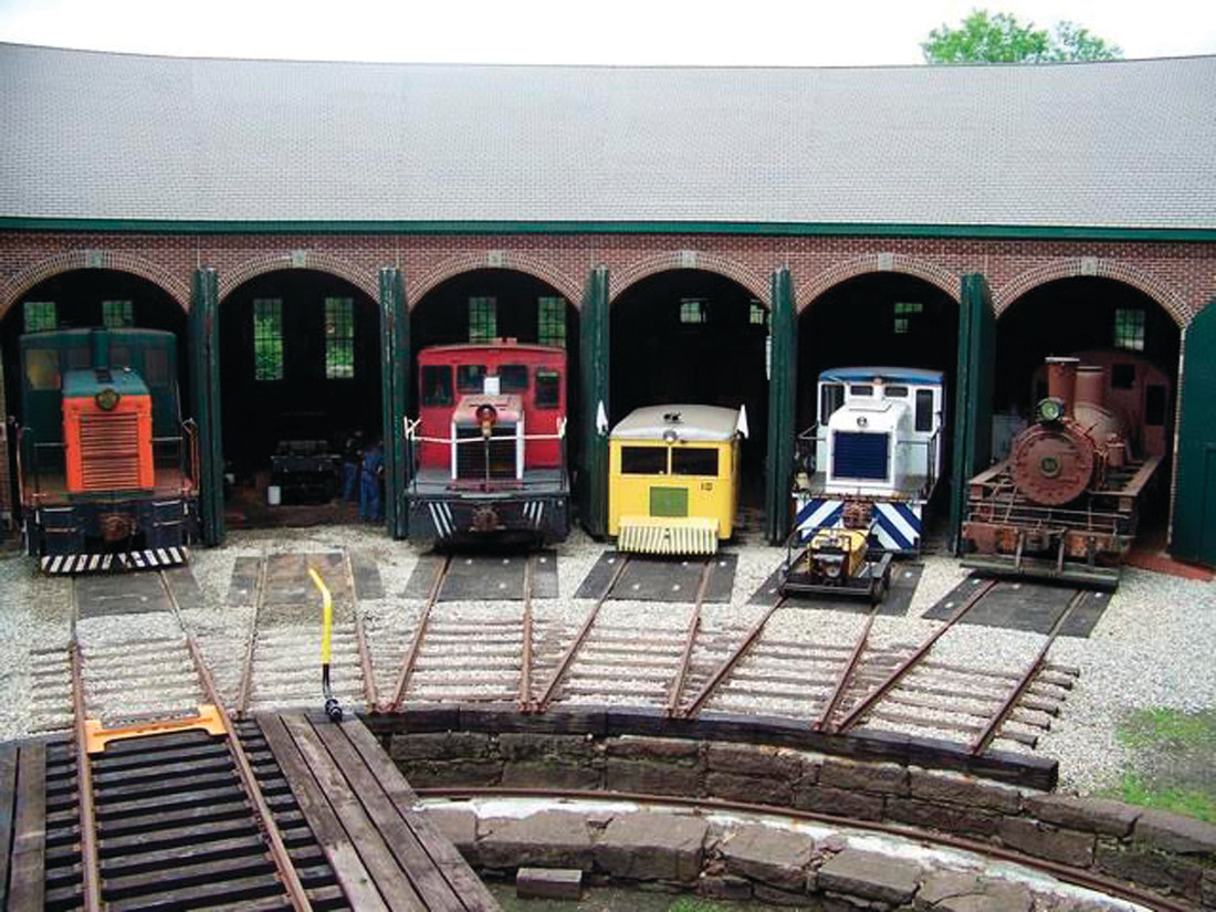 TRESURED TRAINS: This is the roundhouse that stores the old-time engines at the historic Eastern Railroad Museum in Willimantic, CT that the JHS will visit – weather permitting – on Saturday, May 6.