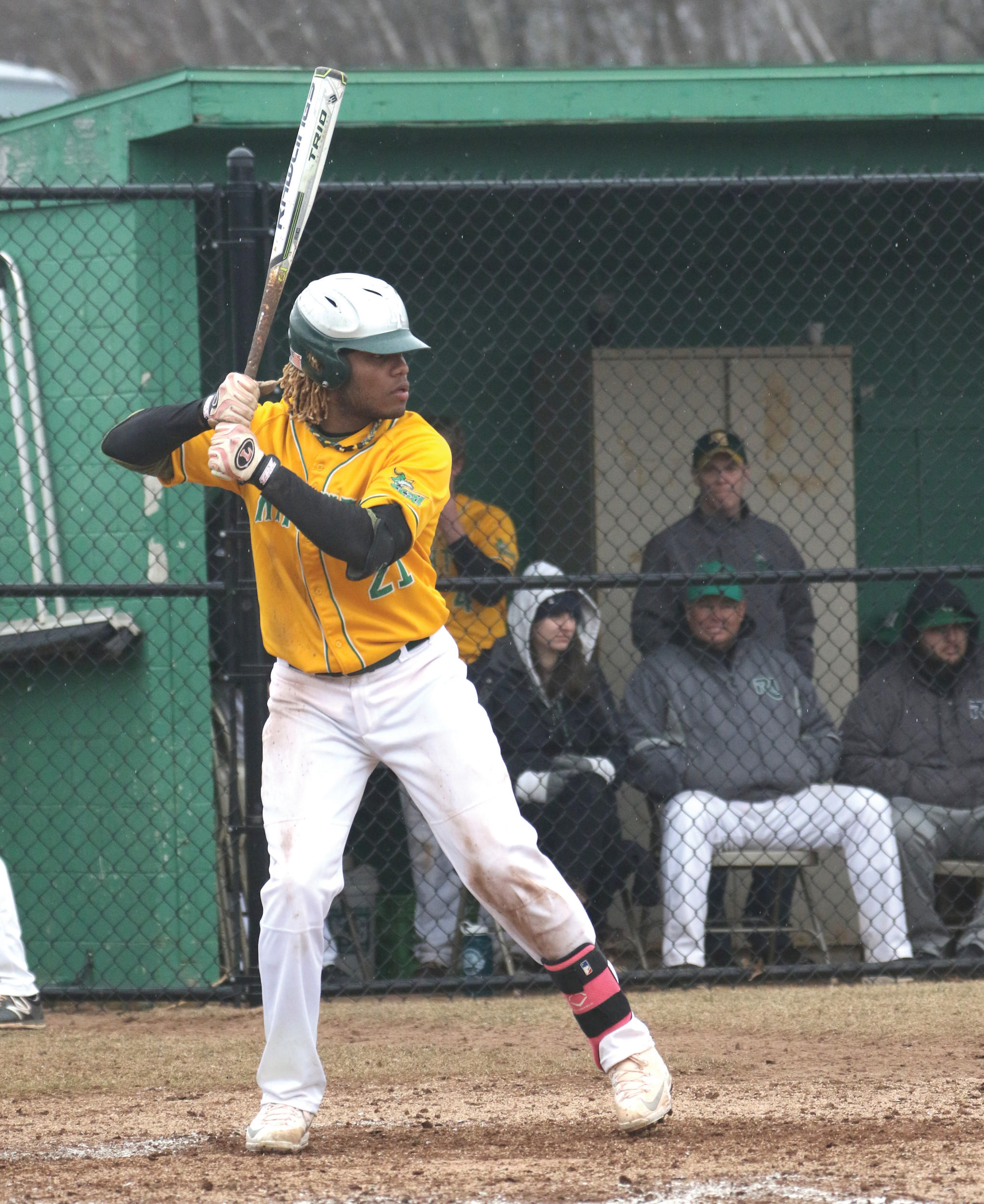 CLUTCH: Deiviz Lara's walk-off double lifted CCRI over Southern Maine in Game 2.