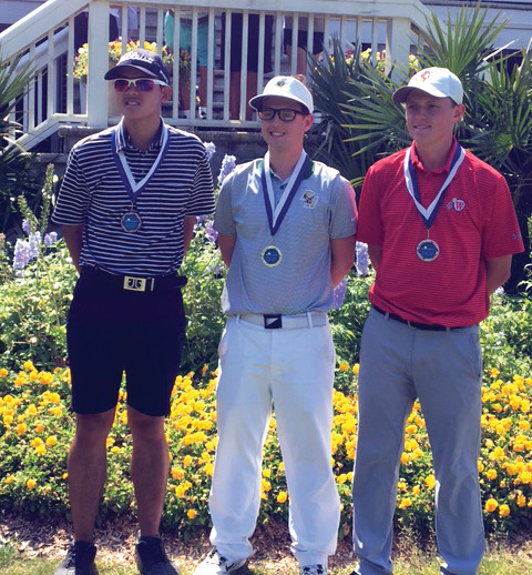 Joey Tucker (middle) earned the individual title.