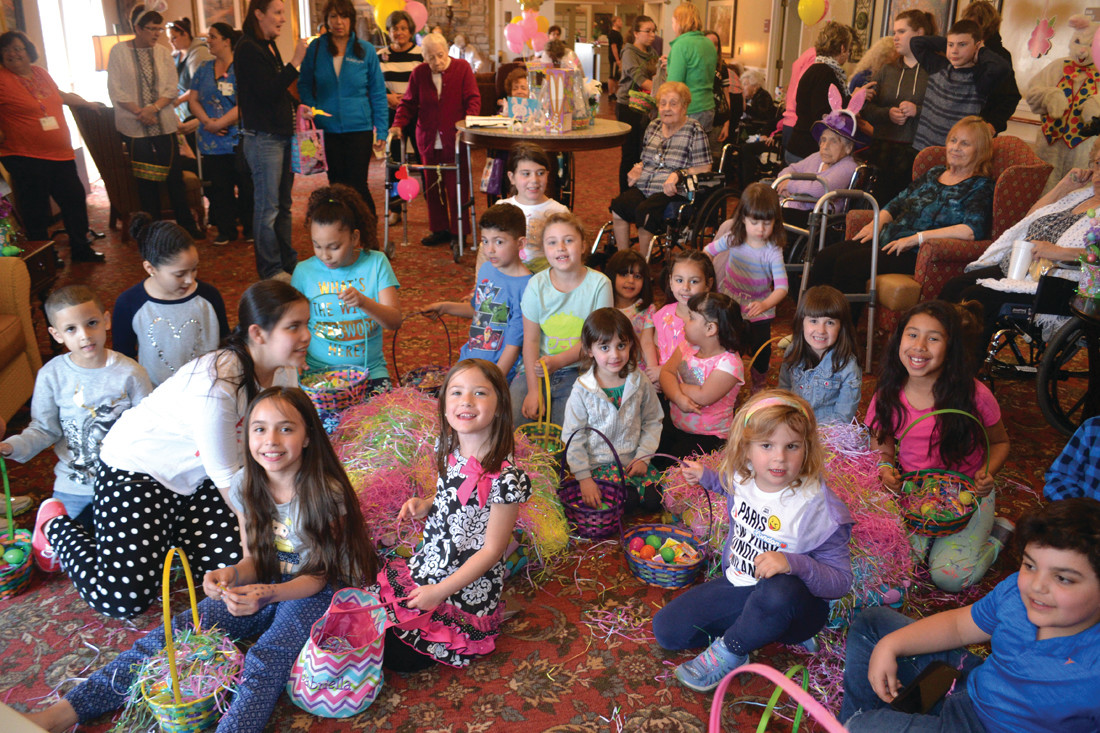 EASTER TREATS: Children enjoyed an assortment of activities and candy during Friday's celebration.