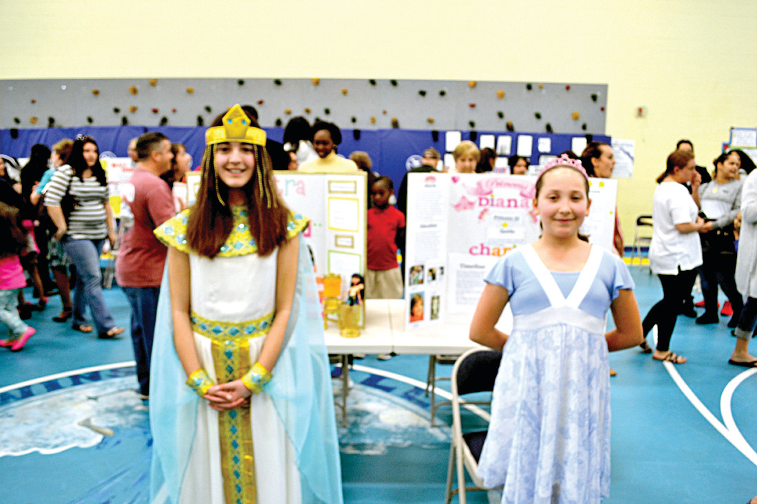 CLEOPATRA AND PRINCESS DIANA: Melanie Cordeiro and Jamie Deweter were spot-on with their historical performances.