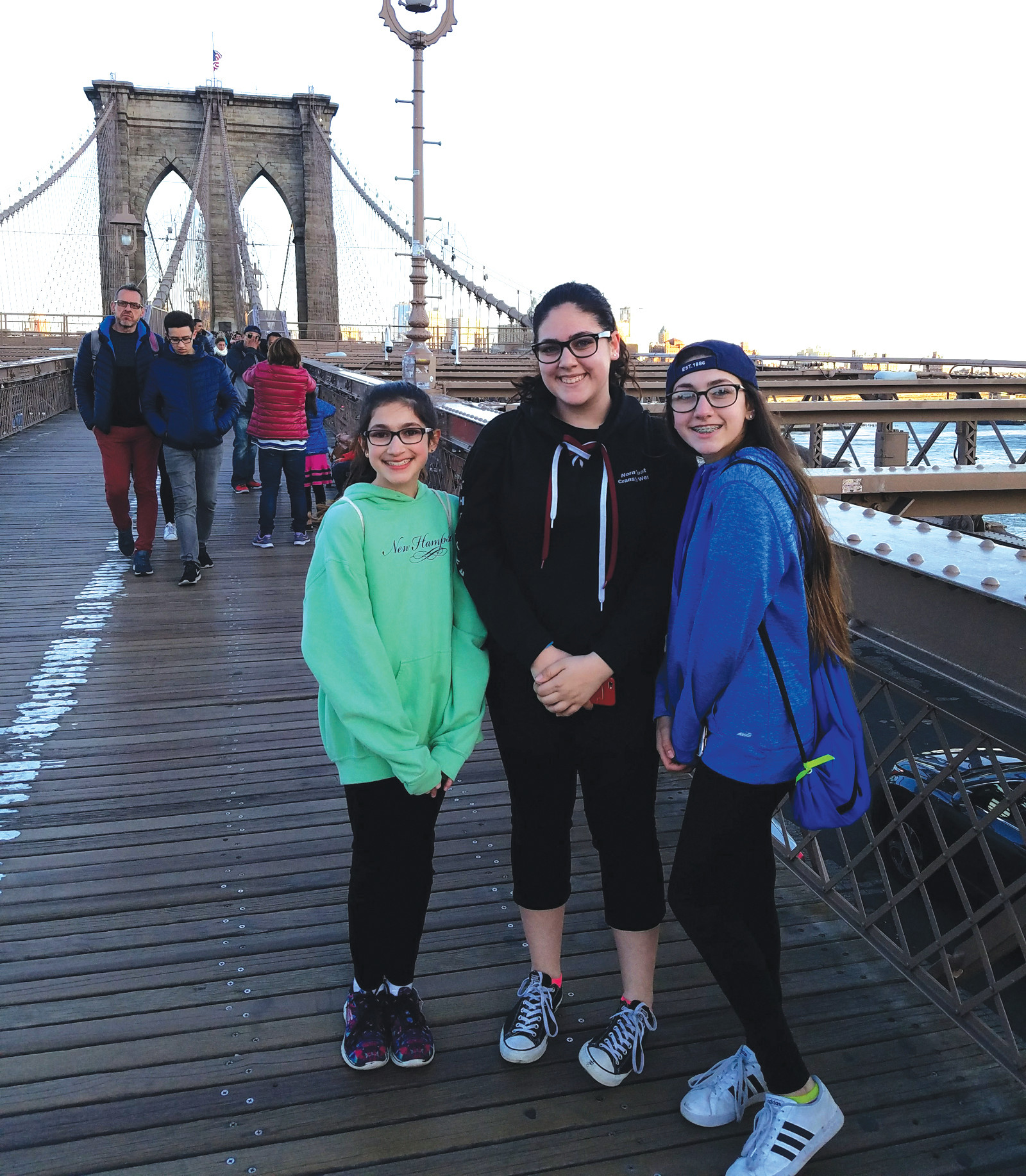 CHECKING IT OFF THE BUCKET LIST: Walking the Brooklyn Bridge at sunset was something we will always remember doing and was a highlight of the trip. It was one of the free things I had found when I researched free things to do in New York City.