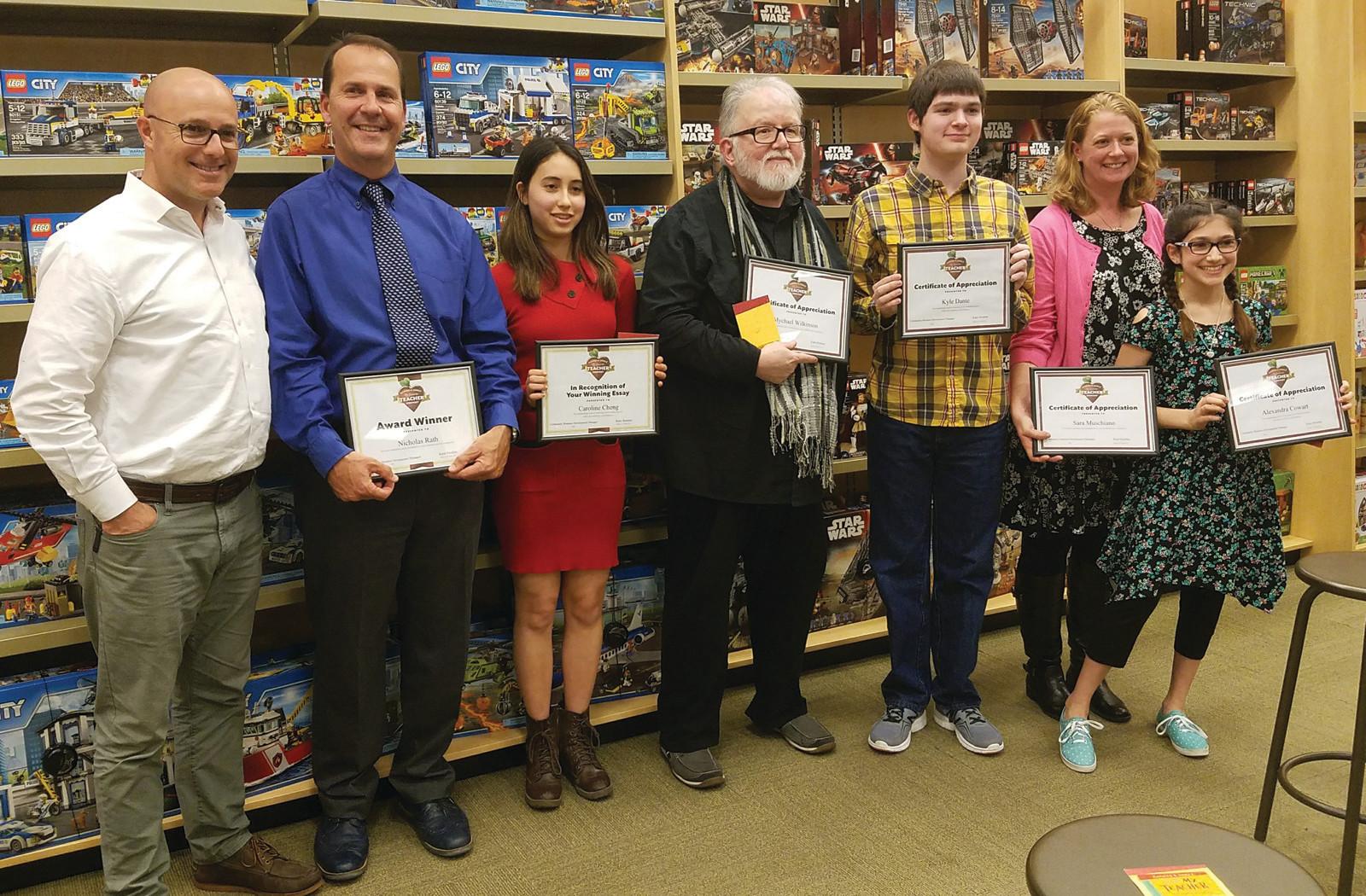 My favorite teacher essay contest winners