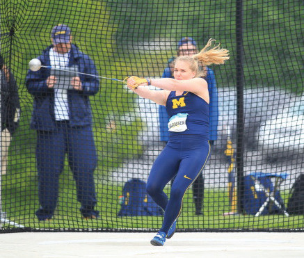 INSTANT IMPACT: Former Toll Gate star Courtney Jacobsen has continued her success at the University of Michigan.