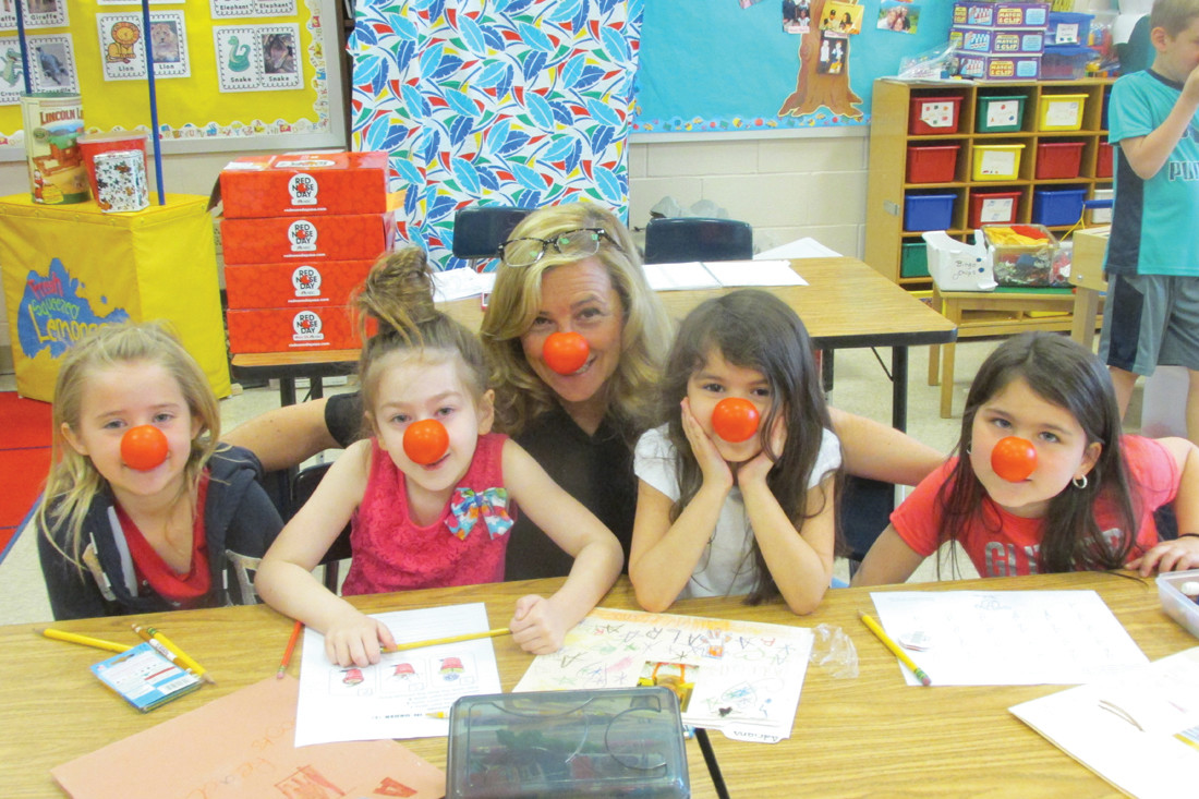 FUN(D)RAISERS: This will be the scene inside all Johnston elementary schools as well as the ECC next Thursday when Red Nose Day II tries to raise money that will fight poverty that strike children.