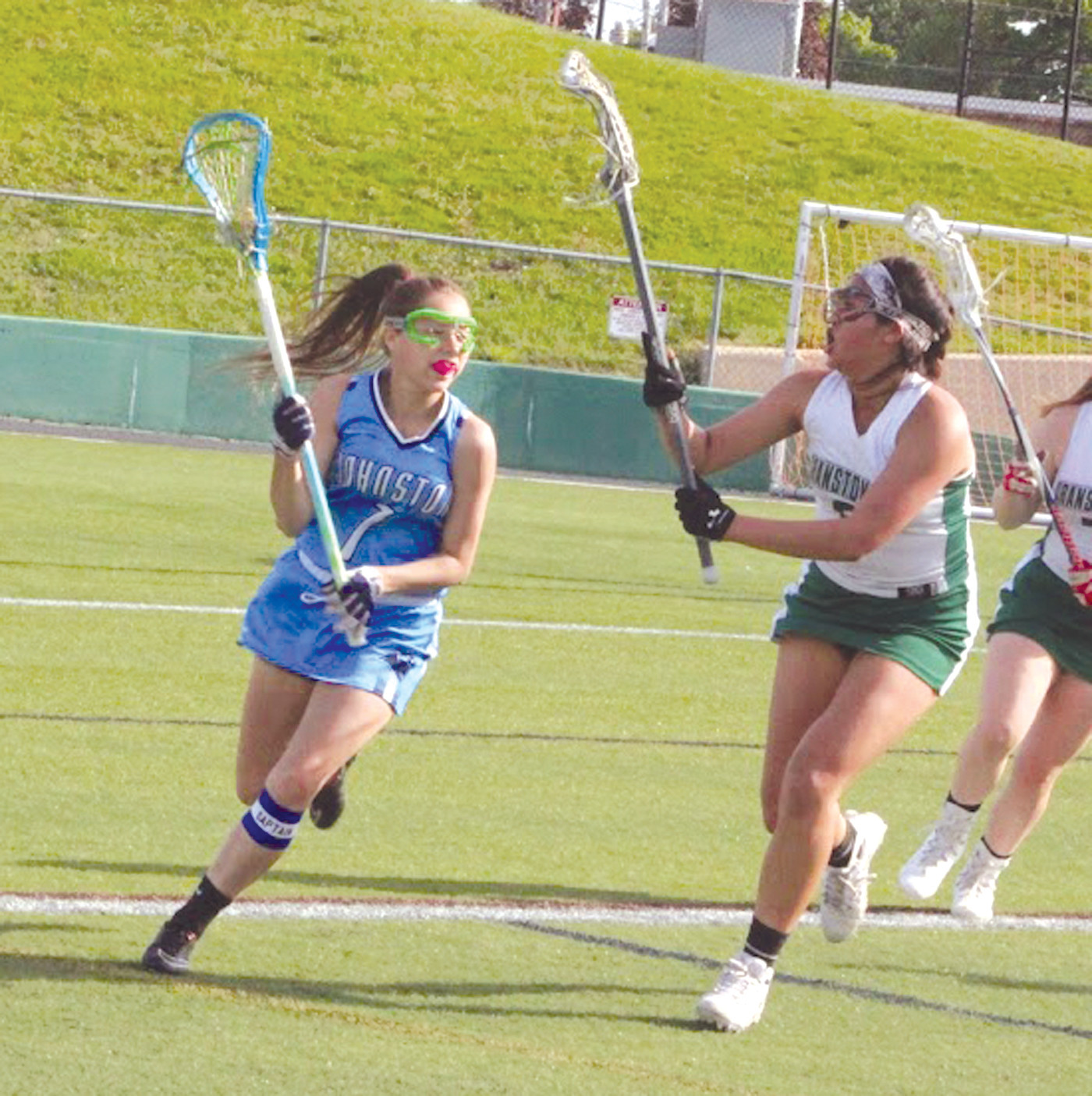 CRUISING TO VICTORY: Grace Sarah sparked the Panthers with six goals and one assist.
