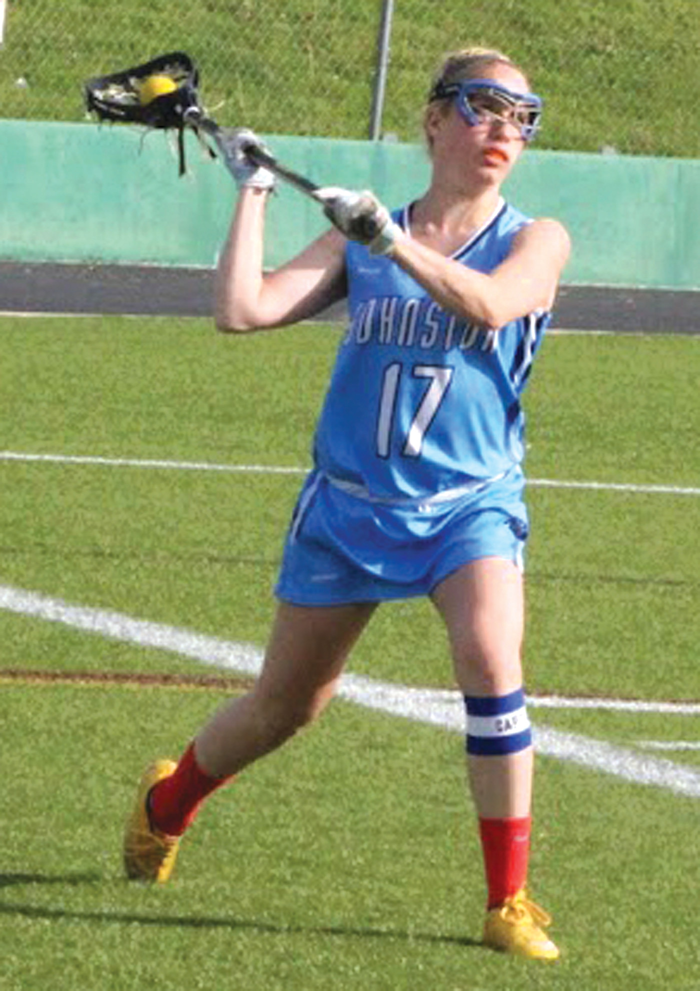 Samantha Hardman gets ready to launch the ball up the field.