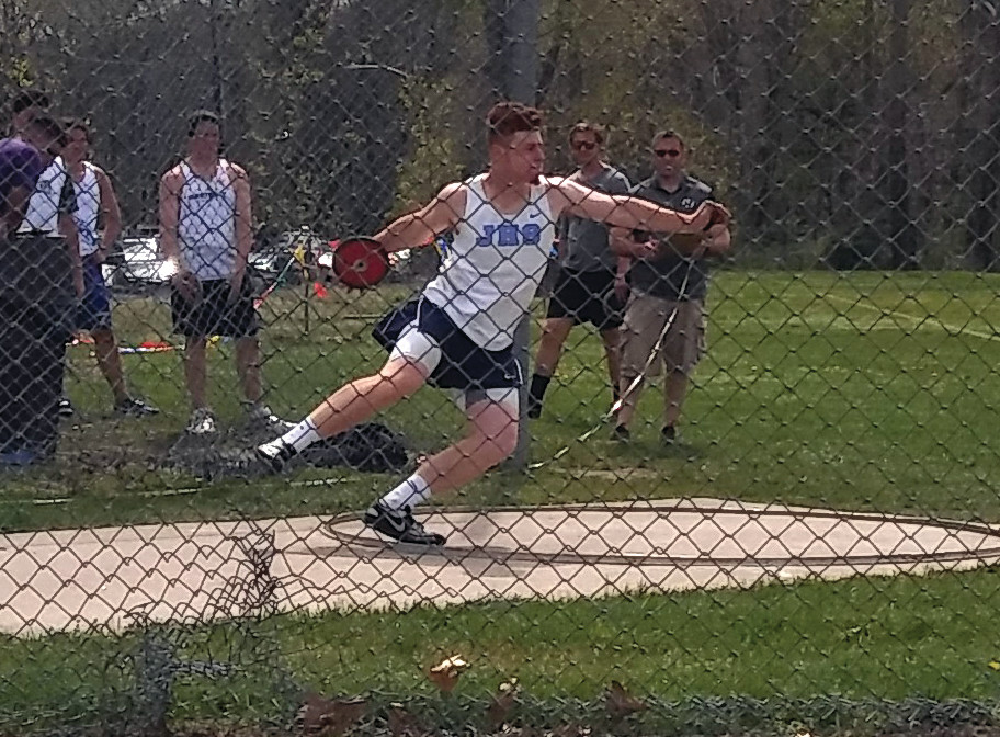 GETTING SET: Kyle Nelson throws the discus at the Classical Classic a few weeks ago. Nelson went on to take gold in the event.