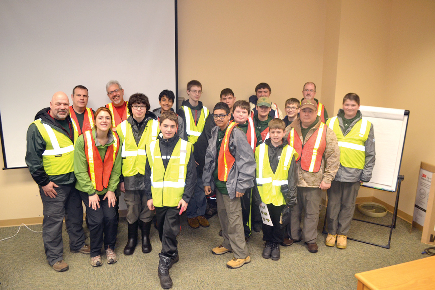 DOING A GOOD DEED: Scouts of Troop 14 Bellingham recently discovered that life finds a way at the Johnston Central Landfill as part of their community service efforts.