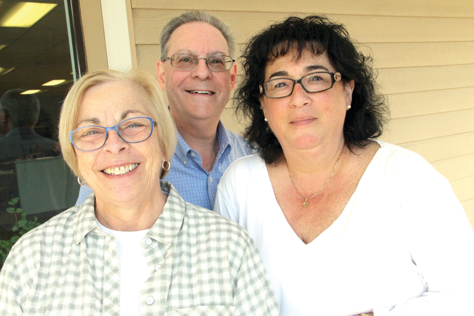 ON THE MOVE: Judy Bessoff, Aaron Weintraub and Beth Veltri are key organizers of the Or Chadash Congregation that will move to Trinity Church in Pawtuxet.