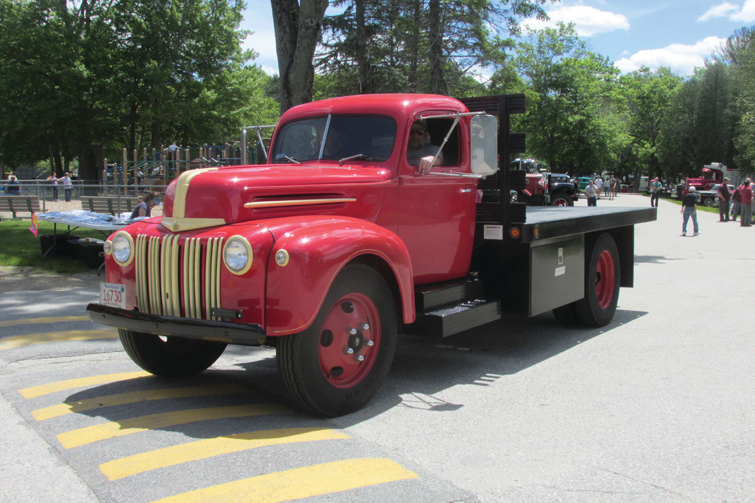 PRIZE POSSESSION: Dennis Beachesne drove this 1947 Ford truck to Johnston Sunday from his home in Methuen, Massachusetts.