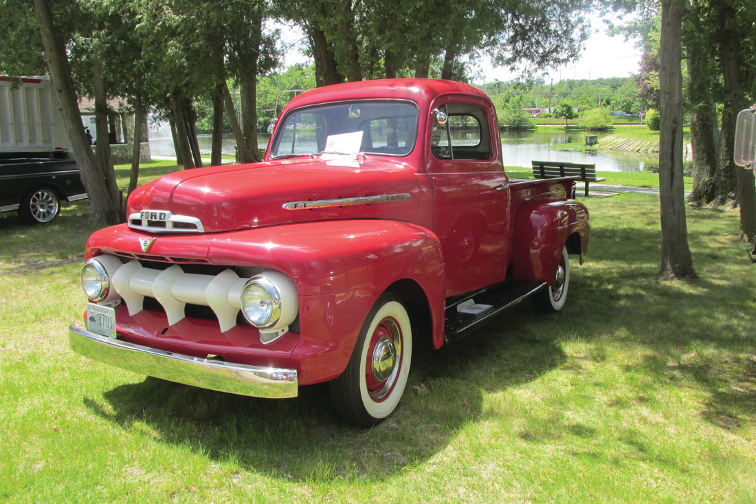 RED ROADSTER: This is a 1951 Ford pick-up truck that caught the eyes of young and old alike Sunday.