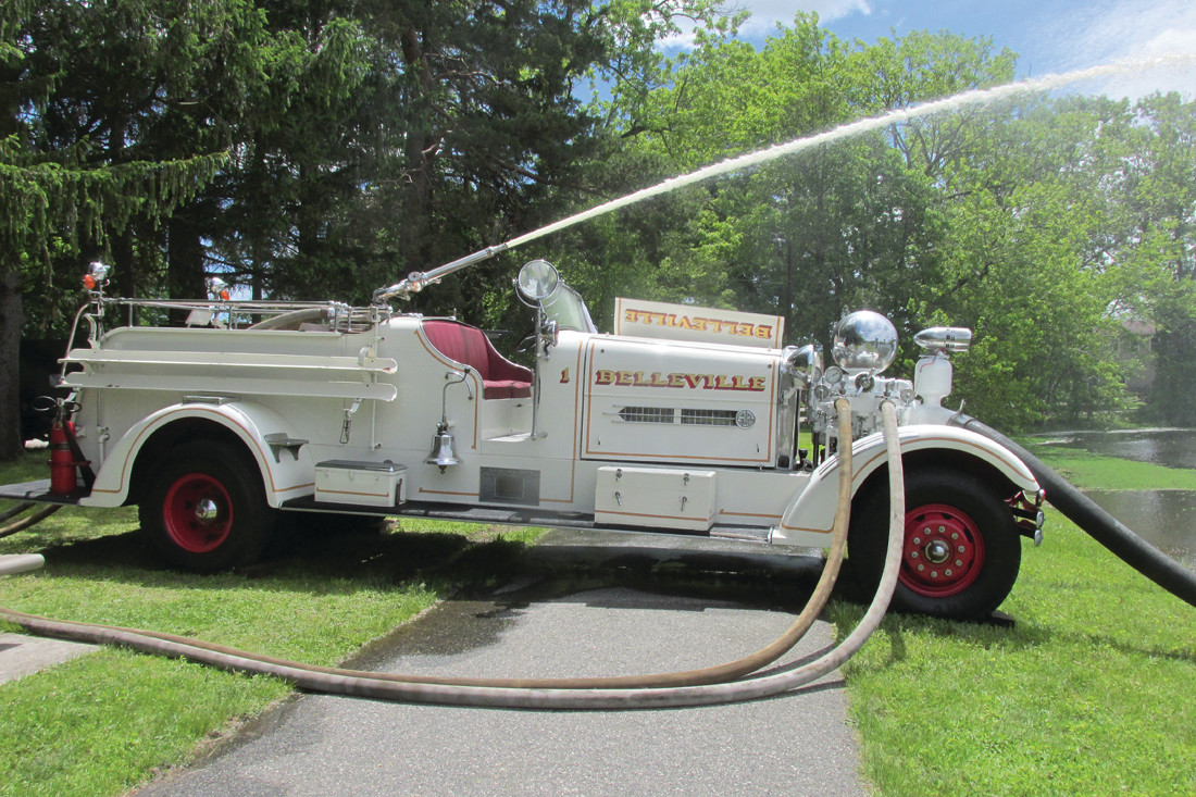 "SHAPPY'S SPECIAL: Johnston native and Warwick resident Richard ""Dick"" Shappy brought this 1939 Ahrens-Fox fire engine to Sunday's Ocean State Vintage Haulers Spring Show."