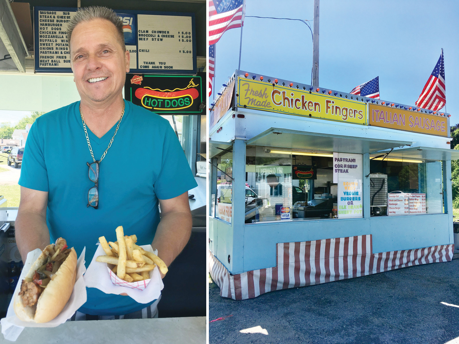 Meet Stephen Waldeck, enticing customers with his famous Sausage & Peppers sandwich and perfectly seasoned fries ~ all this (and MORE) waiting just for you at Buddy's Diner on Atwood Avenue.