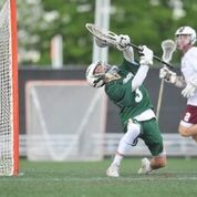 ATHLETIC SAVE: Hendricken goalkeeper Ryan Williams shows off his dexterity with a save on Thursday.