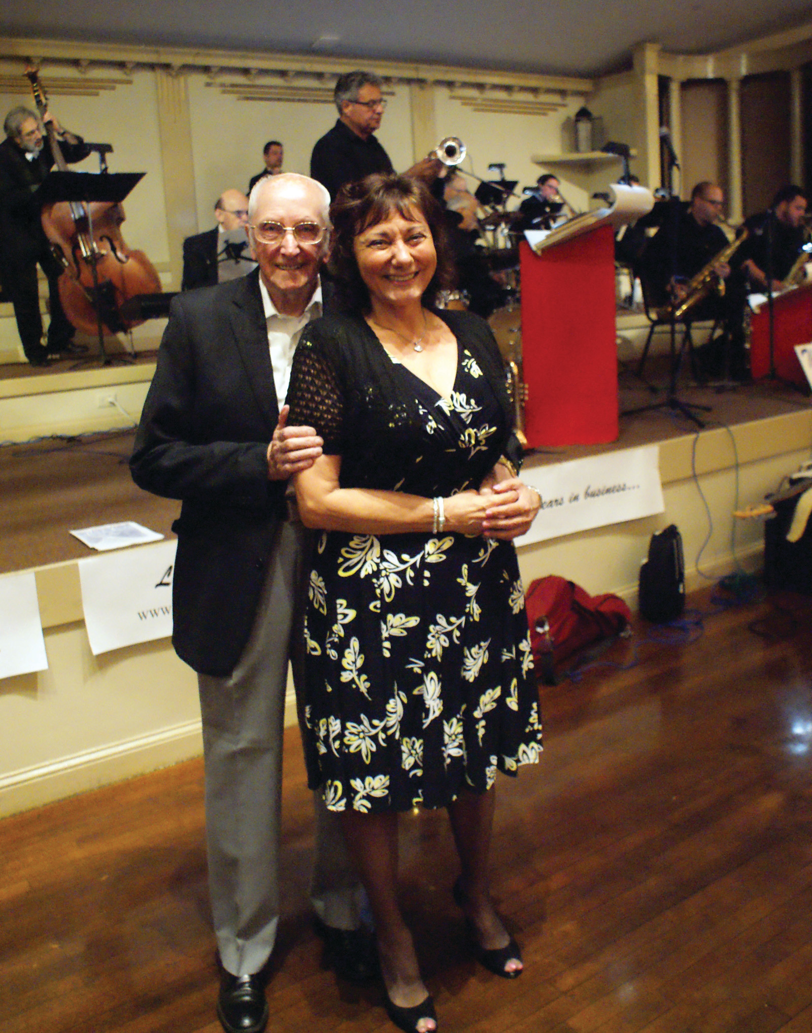 READY TO TANGO: Pictured are Ray Peterson of Cranston and Diane D'Ambra getting ready to Tango at the Spring Edition of the Cavalcade of Bands at Rhodes on the Pawtuxet.