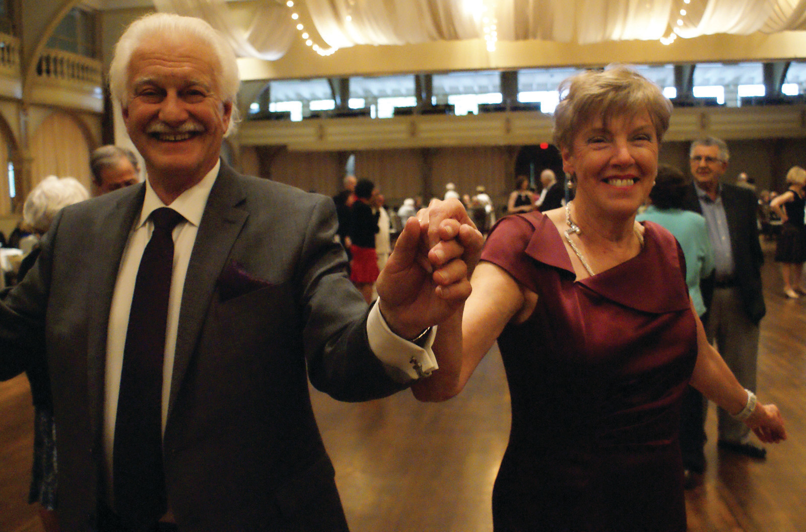 CHA CHA: Dancing the night away at the Spring Edition of the Cavalcade of Bands and doing the Cha Cha are Bob DiDomenico and Gail Palmer.